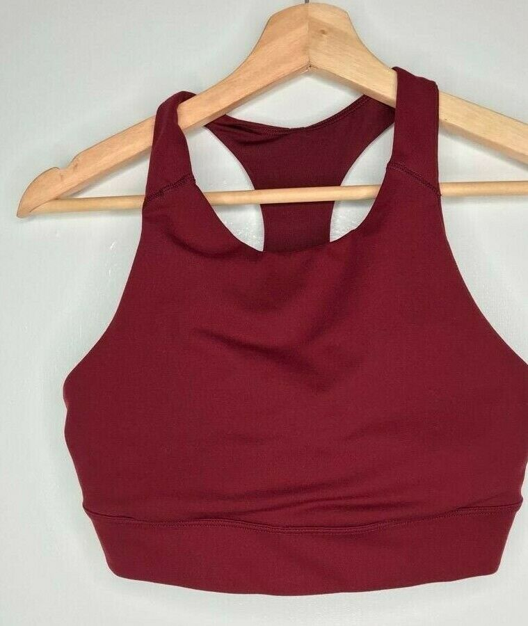 Old Navy Active Maroon Sports Bra with Pink Stripe on Back Size Medium
