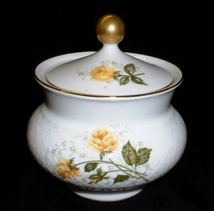 Seltmann Weiden Annabell Yellow Rose Sugar Bowl Sugar Pot With Lid Ebay
