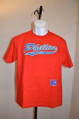 Fehler MüHsam Neu Mlb Philadelphia Phillies Jugendliche Xl Xl Rotes T-shirt 38sk