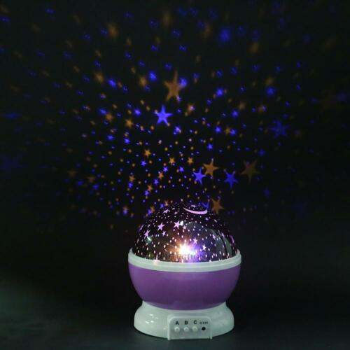 USB Rotating Projector Starry Night Lamp Star Sky Romantic Projection LED Gift