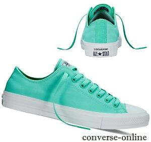 Men's CONVERSE All Star CHUCK 11 Neon OX color foglia di t verde Lo Scarpe Da Ginnastica Tg UK 12