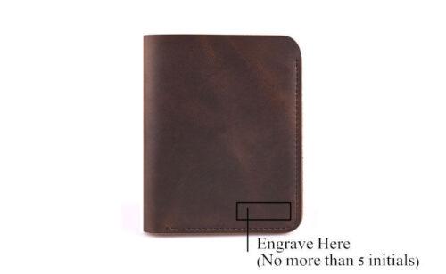 Personalized Genuine Leather Mens Wallet Vintage Slim Pocket Credit Card Coin