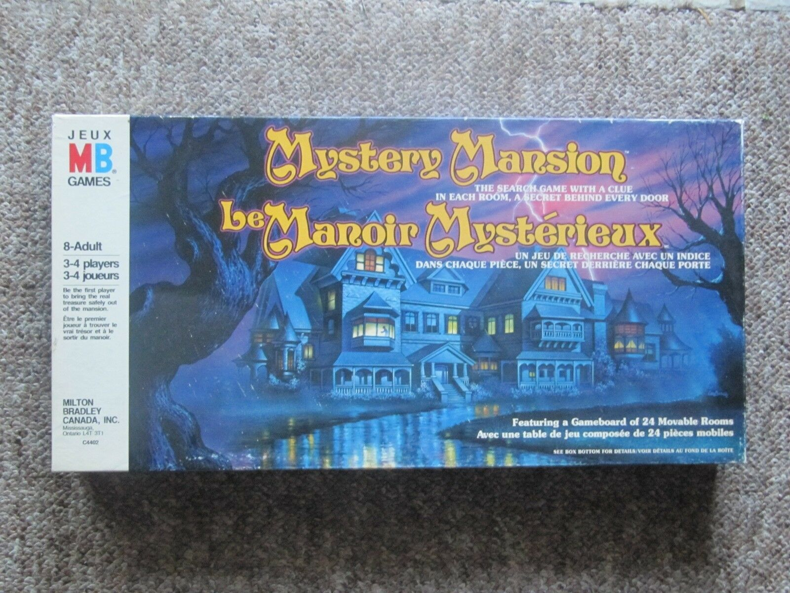 1984 Mystery Mansion RARE Canadian Edition. French and English.  COMPLETE