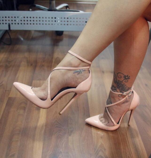 2019 Sexy Womens European Oxford Open Toe Stilettos High Heel shoes Sz35-47