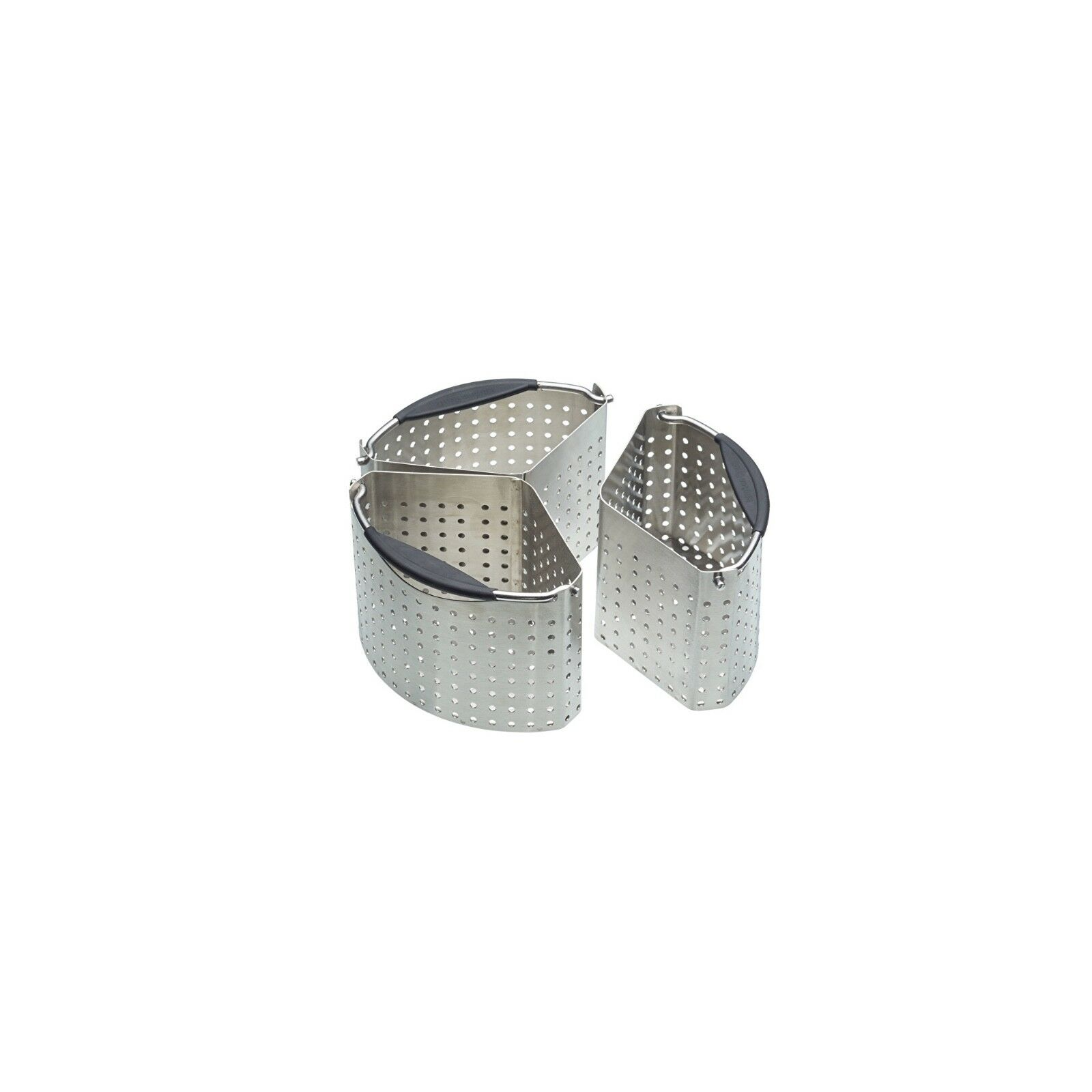 MasterClass kitchencraft Stainless Steel Set of 3 Saucepan Divider Baskets