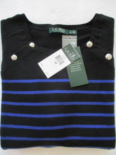Blend 3x Lrl Ralph Cotton 789022871729 Crew 99 Sweater Sort Plus Nwt Lauren Kvinders Neck vnw0a