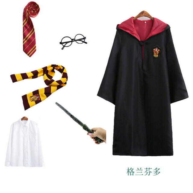 Harry Potter School Uniform Magic Robe Gryffindor Slytherin Cosplay Costumes Set