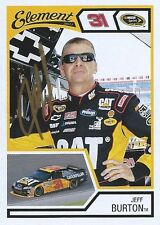 JEFF BURTON AUTOGRAPHED 2011 WHEELS ELEMENT RACING NASCAR PHOTO TRADING CARD #5