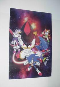 Sonic The Hedgehog Poster 24 Metal Sonic Shadow Blaze Marine Movie 2019 Ebay