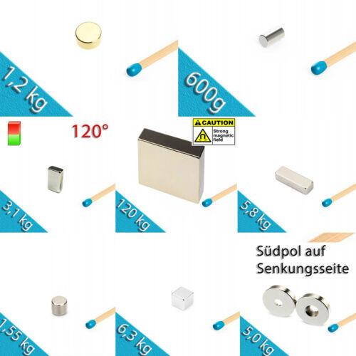 AUSWAHL Neodym Magnete Supermagnete Scheibenmagnete Stabmagnete Quadermagnete