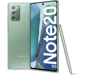 "SAMSUNG GALAXY NOTE 20 5G MYSTIC GREEN 256GB ROM 8 GB RAM DISPLAY 6.7"" DUAL SIM"