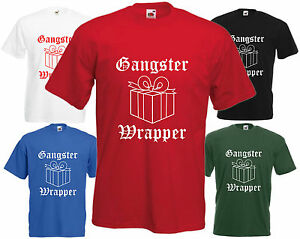 9530e3fc Image is loading Gangster-Wrapper-T-Shirt-Funny-Christmas-Present-Tee-