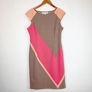Maggy-London-Colorblock-Sheath-Dress-Size-10