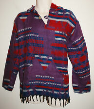 New Acrylic Fleece Hoody Jumper XL chest to 45 inches Hippy Fairly Traded Aztec