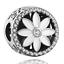 DIY Flower Silver European CZ Charm Crystal Spacer Beads Fit Necklace Bracelet