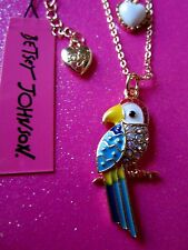Betsey Johnson Parrot Necklace 14-16 Inches