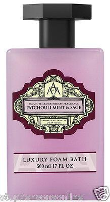 AAA Aroma Patchouli Mint & Sage Luxury Foam Bath 500ml