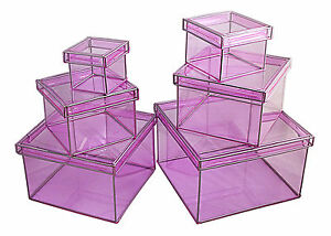 Clear Lookers Nested Boxes