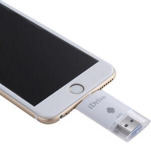 64gb idrive flash drive speicher usb stick f r iphone 5 6. Black Bedroom Furniture Sets. Home Design Ideas