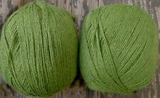 Cashmere, virgin wool and silk yarn, lace wieght, lemongrass,  2 balls, 3.4 oz.