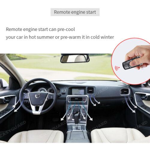 EASYGUARD PKE car alarm push button start stop remote start touch password entry