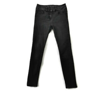 Next-Size-10-Dark-Charcoal-Grey-High-Waist-Enhancer-Skinny-Jeans-Womens