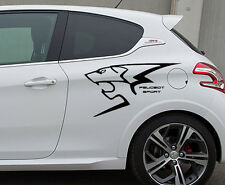 Peugeot Sport RC Logo Löwe Lion Aufkleber Sticker Folie Tattoo Decor Set