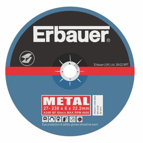5x Erbauer Schruppscheiben 230x6x22.2mm Schruppscheibe für Edelstahl Metall
