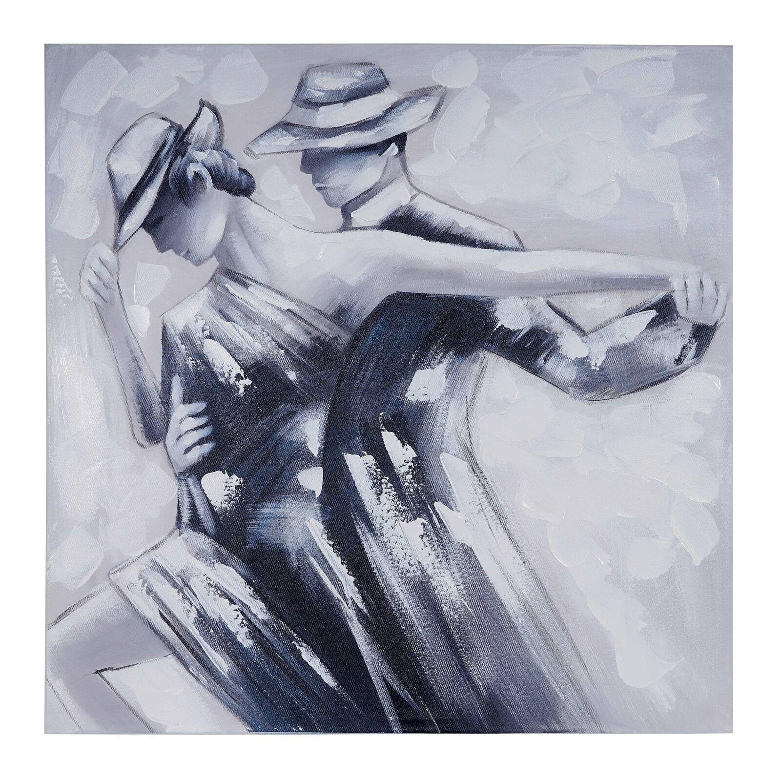 Ölgemälde Tanzpaar, 100% handgemaltes Wandbild Gemälde XL, 80x80cm