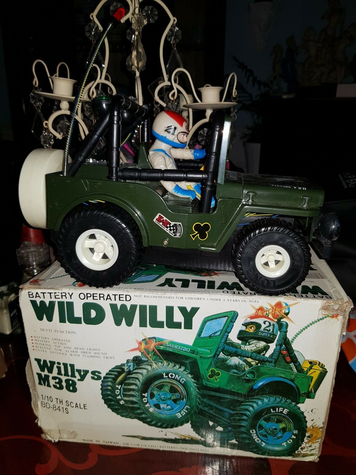 Wild Willy M38 Jeep Cheng Shing Toys 1980s NOT TAMIYA- Battery Operated BD-841S