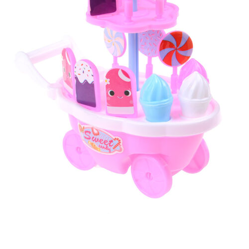 Doll toy trolley ice cream cart night point trolley children/'s t Rk SP