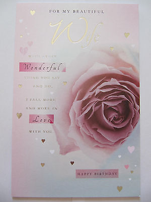 WONDERFUL COLOURFUL EMBOSSED WITH LOVE MY FIANCEE BIRTHDAY GREETING CARD