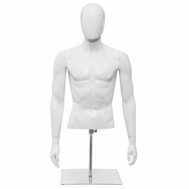 Costway HW56032 Half Body Head Turn Male Mannequin with Base for sale online