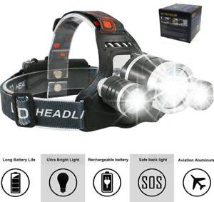 Kopflampe-Stirnlampe-CREE-LED-Oramics-Boruit-500-Meter-USB-Ladekabel-2x-Akku