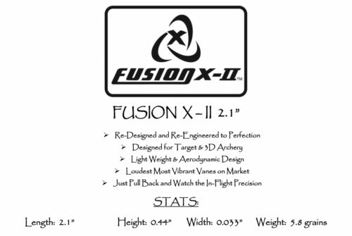 """Pkg 100 *** Quand précision compte *** Orange néon 2.1/"""" Fusion-II aubes"""