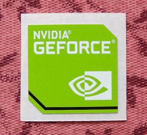 nvidia geforce sticker 175 x 175mm laptop case badge new