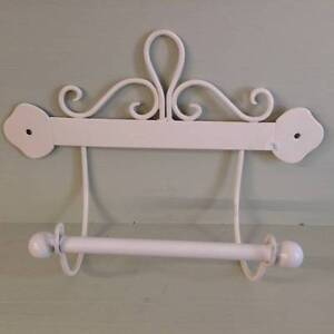 Bathroom toilet loo roll holder victorian style scroll for Commode style shabby