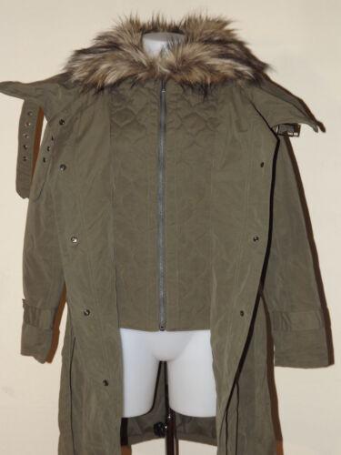 S Donna 40 Parka Piumino Firetrap M Giaccone Lungo Militare Tg Verde Jacket 4p6Xwq