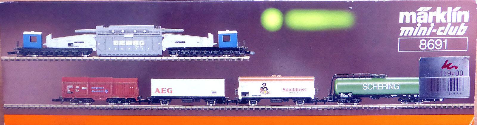 marklin Z miniclub 8691; autori merciSet Berlino DB, in scatola originalef832