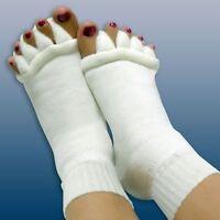 Toe Separator Straightener Socks Bunion Aching Foot Alignment Pain Relief 1 Pair