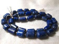 Lapiz Lazuli Perlas Natural Mate Finsih Strand Afganistán