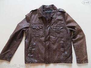 Levi-039-s-Biker-Jacke-Lederjacke-Gr-L-TOP-Echtes-Vintage-Leder-Used-Style