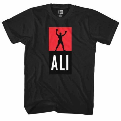 Muhammad Ali Boxing Victory Stance Men/'s T Shirt Iconic Champion Legend Black