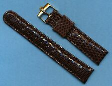 Rolex Gold Plate Buckle and 18mm Custom Genuine Lizard Strap Band Fit Bubbleback