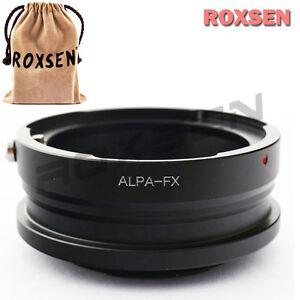 Alpa mount lens to Fujifilm X mount Fuji X X-Pro1 FX M1 E2 Pro2 camera adapter