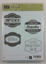Stampin' Up! Oh My Goodies Clear Mount Stamp Birthday Thanks Live Laugh Love