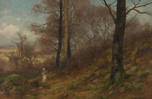 Josiah-Clinton-Jones-1848-1936-Late-19th-Century-Oil-Woodland-Landscape