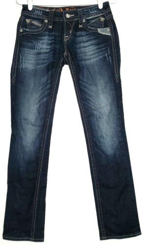 Rock Revival Womens Jeans Size 25 Elma Straight Bl