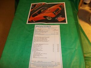 1969 PONTIAC GTO JUDGE WINDOW STICKER AND BROCHURE!! OLD BUT NOT ORIGINAL!!