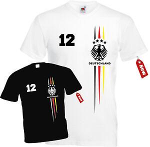 super popular 48bdc 2f150 Details zu WM T-Shirt Trikot Deutschland mit Druck Nummer + Name - Girls /  Damen Geschenk